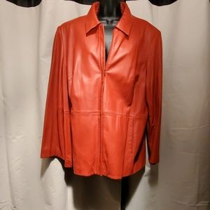 BEAUTIFUL used soft leather jacket.